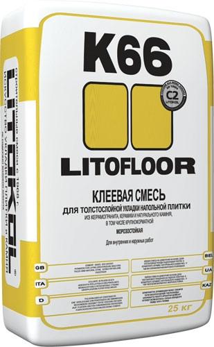 Клей на цементной основе LITOFLOOR K66