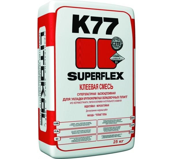 Клеевые составы Клей на цементной основе SUPERFLEX K77